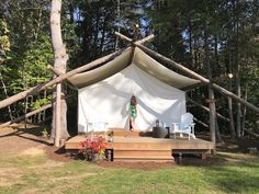 Glamping at the newly opened Whispering Springs Wilderness Retreat just an hour and a half east of Toronto in the hills of Northumberland County. Ontario Travel, How To Show Love, Get Outside, Outdoor Furniture, Outdoor Decor, Luxury Lifestyle, Glamping, Canada, Places