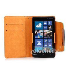 KLD Fresh Series Leather Case Pouch Wallet Bag for Nokia Lumia 820 [LCEH-KDFWNKL] - $18.00