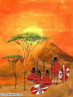 In The Morning: Sarah Shiundu. African Artwork, African Paintings, Contemporary African Art, Spirited Art, Africa Art, Guache, African American Art, Indigenous Art, Art For Art Sake