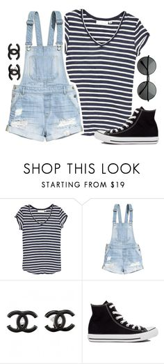 """I feel the Magic in the air tonight"" by ariana-grande123 ❤ liked on Polyvore featuring H&M, Chanel, Converse and MLC Eyewear"