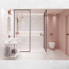amazing bathroom design ideas for you to copy 10 ~ mantulgan.me amazing bathroom design ideas for. Bathroom Design Luxury, Modern Bathroom, Bathroom Pink, Bath Design, Minimalist Bathroom Design, Bohemian Bathroom, Bathroom Bath, Remodel Bathroom, Master Bathroom