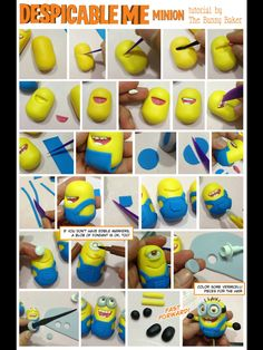 How to make a fondant minion