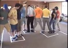 Ice-Breaker Games : Duct Tape Game For Big Group - this looks hilarious!