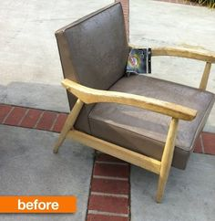 Before & After:  MCM Chair Gets an Upholstery Redo