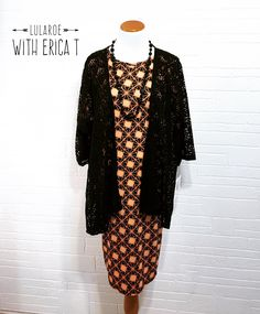 LuLaRoe Julia Dress + Lindsay kimono = Halloween outfit perfection! Find this online on Facebook at LuLaRoe With Erica T