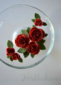 Red roses for a birthdaycake. Red Roses, Ethnic Recipes, Flowers, Royal Icing Flowers, Flower, Florals, Floral, Blossoms