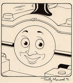 """""""Duck"""" original illustration by Timothy Marwood for Thomas & Friends magazine 