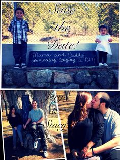 Save the date ideas for couples with kids