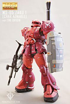 ガンダム The Origin, Big Robots, Gundam Wallpapers, Gundam Custom Build, Gundam Art, Gunpla Custom, Custom Paint Jobs, Super Robot, Suit Of Armor