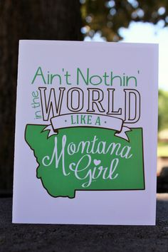 Ain't Nothin' In The World Like a Montana Girl Notecard Set from The Montana Way