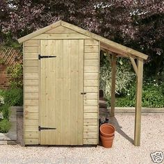 6x4 PRESSURE TREATED GARDEN WOODEN SHED OVERLAP TOOLS STORAGE WOOD STORE 6ft 4'