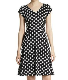 Vintage inspired Chetta B Woven Dot Dress #TVFashion