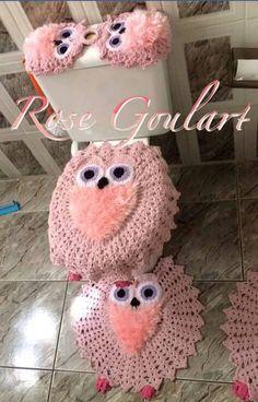 Crochet Crafts, Crochet Doilies, Owl Crochet Patterns, Arts And Crafts, Diy Crafts, Crochet Blouse, Bathroom Sets, Lily, Wool