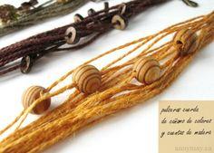 Propongo hoy un tutorial de pulsera con cuerdas de cáñamo y cuentas de madera o similar también...