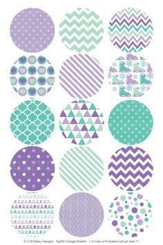 Ice Skating Purple Digital Bottle Cap Images – Erin Bradley/Ink Obsession Designs