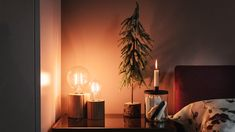 Contemporary wooden bedside lamp holders, add a classic filament look bulb and these stylish lights will add instant warmth to any room. Bed Company, Christmas Bedroom, Bedside Lamp, Light Table, Solid Wood, Wall Lights, Bedroom Decor, Bulb, Contemporary