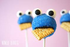 cake pops - coockie monster