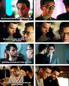 Connor and Oliver. So damn adorable. Frank And Laurel, Connor And Oliver, Jack Falahee, Sherlock Doctor Who, Dc Legends Of Tomorrow, Tv Couples, How To Get Away, Book Tv, Tv Quotes