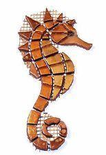 Mosaic stones mosaic seahorse-big-in-gold / copper-MARKET-NEW-handmade – Mosaic Mosaic Pots, Mosaic Garden, Mosaic Glass, Mosaic Tiles, Mosaic Art Projects, Mosaic Crafts, L'art Du Vitrail, Mosaic Animals, Mosaic Artwork