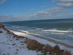 Nauset Light Beach in winter, North Eastham Mass. at the entrance to Cape Cod National Seashore Photo property of Traveling Dog Lady Kathleen Mueller.