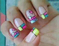 Summer Nails, Nail Designs, Nail Art, Valentines, Jenni, Projects, Finger Nails, Cross Stitch, Polish Nails
