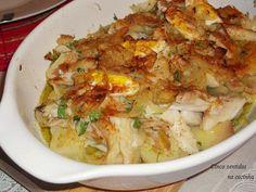 Cinco sentidos na cozinha: Bacalhau no forno com batata e cebolada