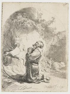 St. Jerome praying - Rembrandt.  Art Experience NYC  www.artexperiencenyc.com/social_login/?utm_source=pinterest_medium=pins_content=pinterest_pins_campaign=pinterest_initial