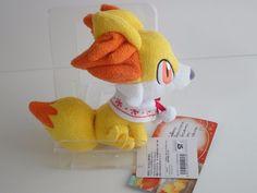 Pokemon Center Fennekin Fynx Feunnec Snow play Plush Doll.with the bonus item #PokemonCenter