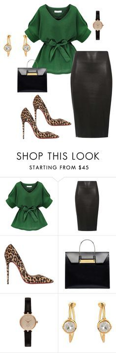 """""""Untitled #298"""" by stylemirror ❤ liked on Polyvore featuring Dorothy Perkins, Christian Louboutin, Balenciaga, Barbour, Theodora Warre, women's clothing, women, female, woman and misses"""