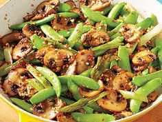 Learn how to make Sugar Snap Pea and Mushroom Sauté. MyRecipes has tested recipes and videos to help you be a better cook Peas And Mushrooms Recipe, Sauteed Mushrooms, Snap Peas Recipe, Snap Pea Salad, Lentil Salad, Sugar Snap Peas, Mushroom Recipes, Oyster Recipes, Fun Cooking