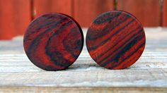 "25mm Cocobolo ear plugs, Central American Rosewood 1"" size ear gauges by MustLoveWoodPlugs on Etsy"