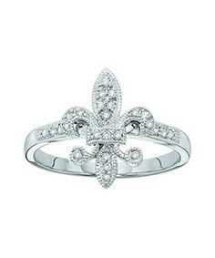 KC Designs Diamond Fleur de Lis Ring