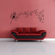 Music Notes Wall Decals | Wall Decal World | Perfect for anyone who loves music! Available in 36 colors.