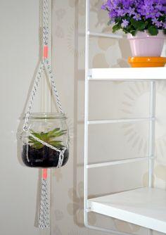 hanging planter pots / Projektila: Sehän on vanha kunnon amppeli