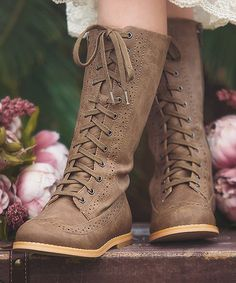 Look what I found on #zulily! Brown St. Andrews Wingtip Boot #zulilyfinds