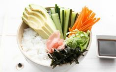 Satisfy your sushi cravings with this homemade sushi bowl.