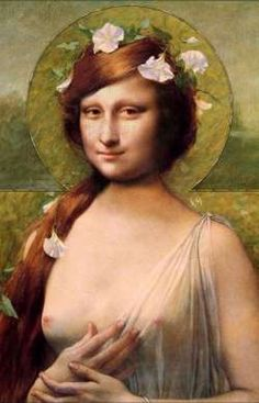 Mona Lisa - art deco mona