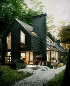 """9,280 curtidas, 31 comentários - Amazing Architecture (@amazing.architecture) no Instagram: """"House in the woods by Anthony Polyvianyi #ukraine #VRAY3 #3dmax #render…"""""""