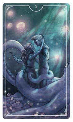 The Ten of Cups- Is a cup that represents fulfillment, particularly in the romantic sphere of life. Trust your intuition to guide you toward a life which will bring you happiness and satisfaction.- Eden