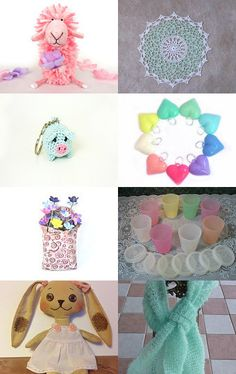 Sweet Pastels by KnitWhats on Etsy--Pinned with TreasuryPin.com