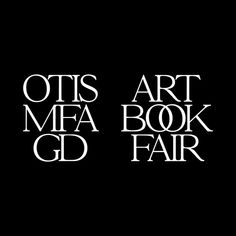 New identity for the MFA Graphic Design Art Book Fair happening this July in Los Angeles. Typography Love, Typography Inspiration, Typography Letters, Logo Design Inspiration, Brush Script, Graphic Design Books, Book Design, Art Book Fair, Book Art