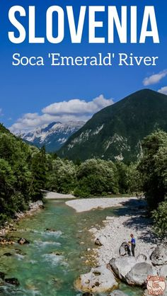 Space Guide Slovenia Travel Guide - Discover the unique Emerald Rive (Soca river) and its magnificent views in the Soca Valley with the Julian Alps - one of the best things to do in Slovenia Voyage Europe, Europe Travel Guide, Travel Guides, Travel Destinations, Travel Tips, Travelling Europe, Traveling, Cool Places To Visit, Places To Go