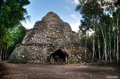 Ruins at Coba, Mexico - you can climb them!