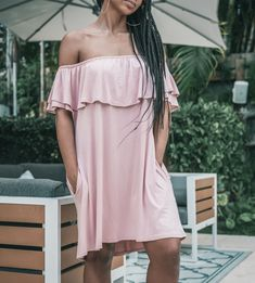 Ruffled Off The Shoulder Mini Dress Formal Dresses Online, Ruffle Dress, Travel Style, Buy Now, Off The Shoulder, Pockets, Free Shipping, Mini, Women
