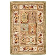 Sage Botanical Tufted Accent Rug - (3'X5') - Safavieh, Multicolored Brown