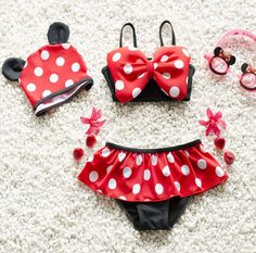 Who says a bathing suit can't also be a fun costume? For the littlest Disney fan in your life, make their next beach day extra special with some Minnie Mouse-inspired fun as you build fairy tale castles in the sand and look for mermaids. Visit eBay to find this cute swimsuit and more.