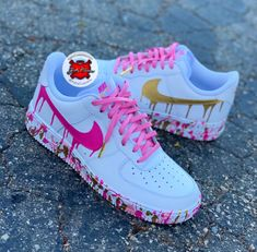 Custom Nike Sneakers - Katty Customs,Custom Nike Sneakers – Katty Customs Sneakers for Girls - Comfortable Once they were section of sports fashion alone, today they are a development and. Nike Shoes Air Force, Nike Air Force Ones, Custom Painted Shoes, Custom Shoes, Nike Custom, Jordan Shoes Girls, Girls Shoes, Ladies Shoes, Women Nike Shoes