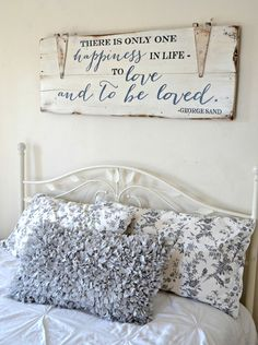 """""""To love and to be loved"""" Wood Sign by Aimee Weaver Designs"""