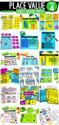 With 32 Math Centers and 95 NO PREP Practice pages, there are plenty of opportunities to learn and master Place Value! Centers First Grade, First Grade Math, Math Centers, Grade 1, Place Value Centers, Core Learning, Tens Place, Tens And Ones, Place Values