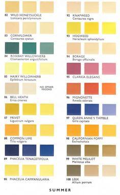 Summer Pollen Color Chart | Pith + Vigor